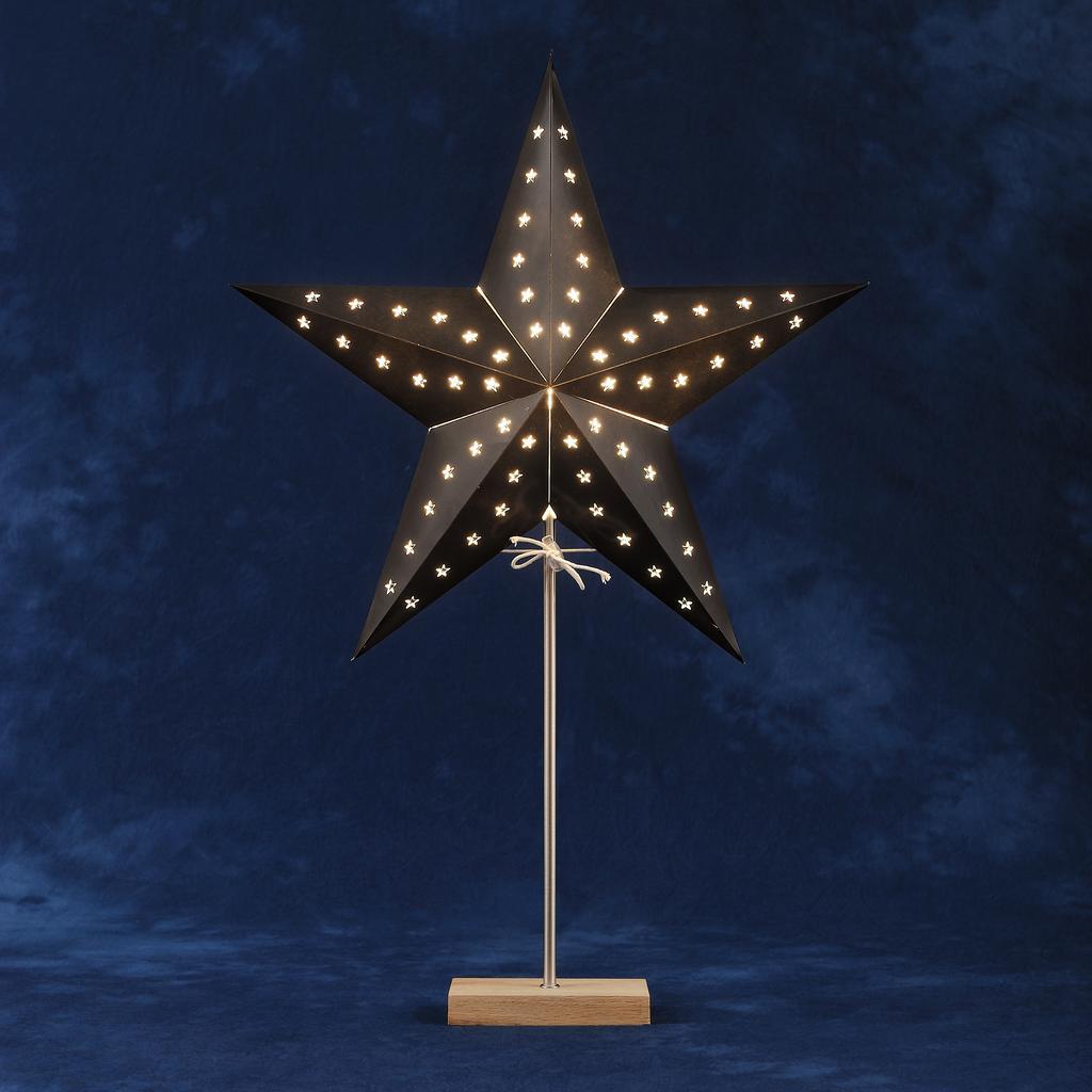 Pappstj rna ekfot svart 45cm christmas lighting for 59 victorian lighted black lamp post christmas decoration