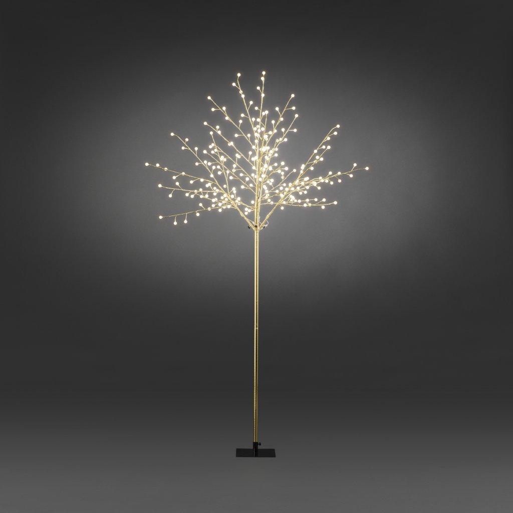 Guldtr d 250cm varmvita led christmas lighting for 59 victorian lighted black lamp post christmas decoration