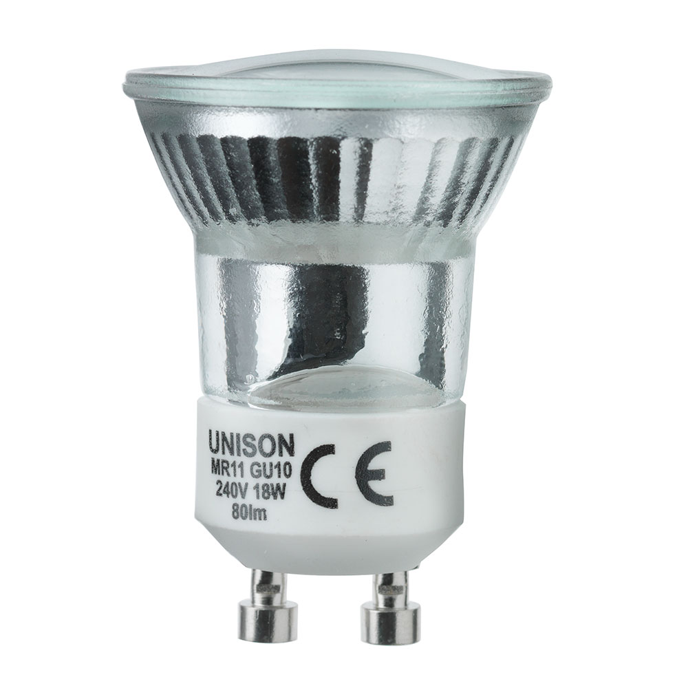 Gu10 Mini 2 Pack 35w Halogen Light Bulbs