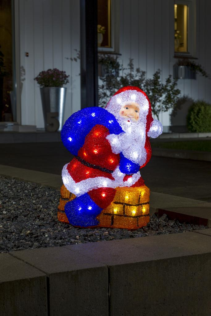 Tomte 48 led 38 cm christmas lighting for 59 victorian lighted black lamp post christmas decoration
