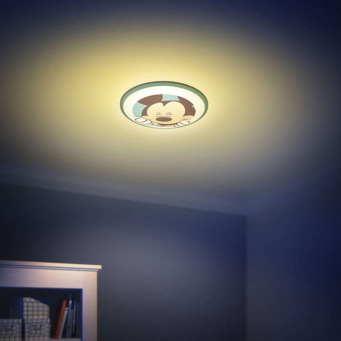 Mickey Mouse Ceiling Light Led Childrens Lamps
