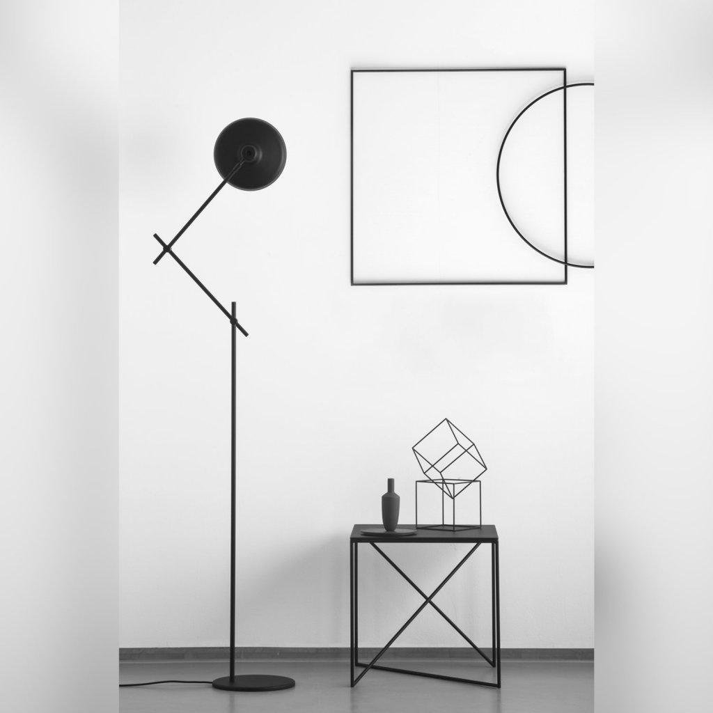 Arigato floor lamp floor lamps lightshopcom for Buy floor lamp with table