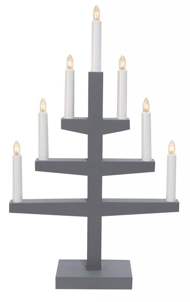 Trapp 7l Candlestick Gray Christmas Lighting