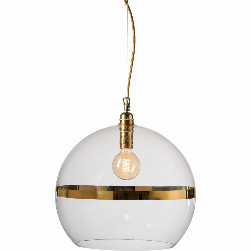 Rowan Clear Gold 39cm Pendant Lightshop Com